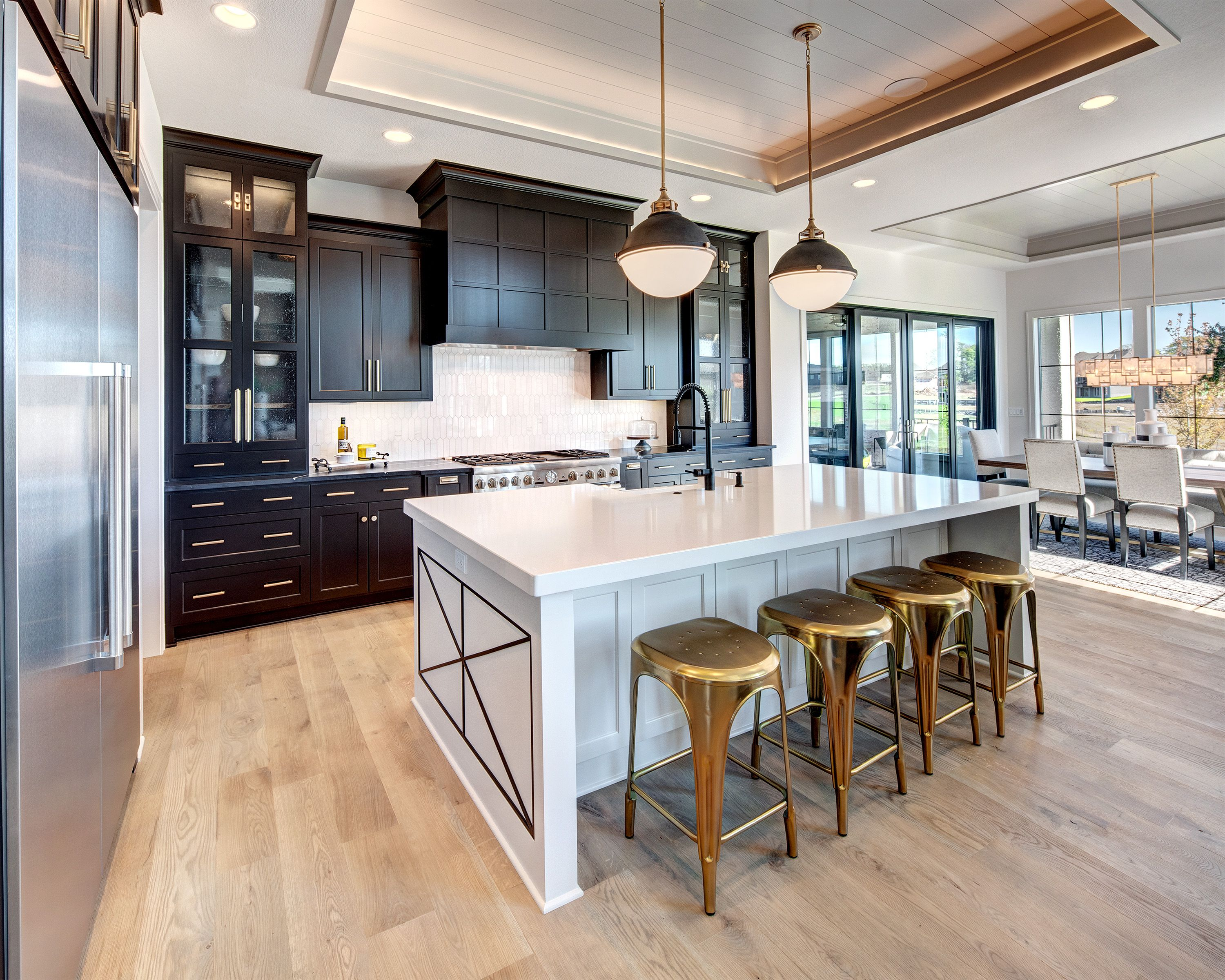 Modern Kitchen Ideas Kitchen With Tray Ceiling Black Cabinets