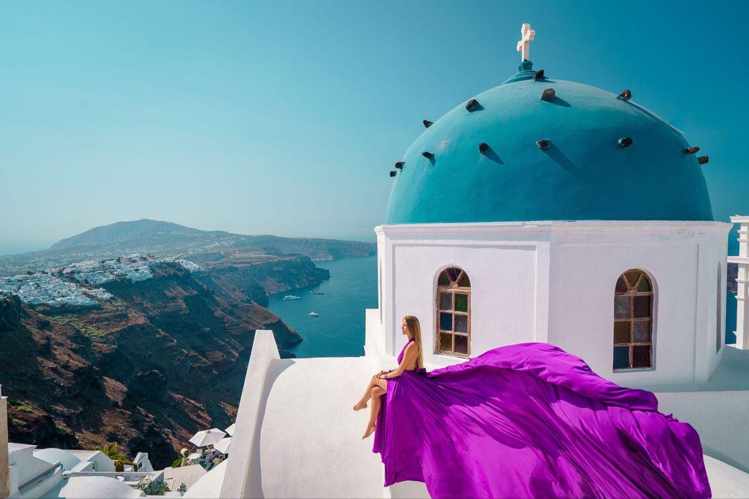 Gorgeous photoshoot #santorinidress6 #photo #greece