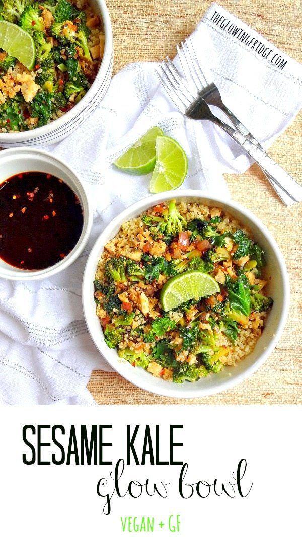 Sesame Kale Glow Bowl Recipe Native foods cafe, Vegan