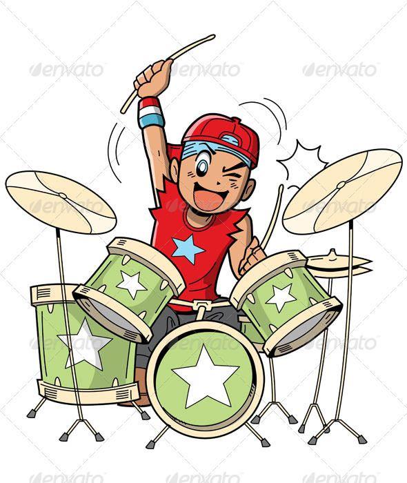 Anime Manga Drummer Fonts Logos Icons Drums Cartoon Drum