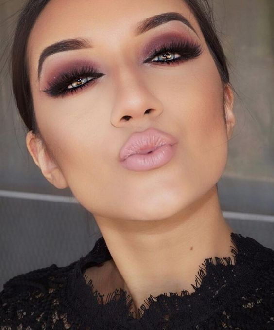 Burgundy Smokey Eye Dramatic Glam Eye Makeup Inspiration Glam