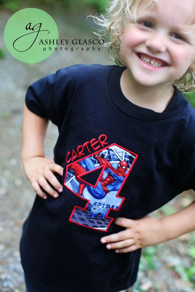 ab218f259 Spiderman Super Hero Birthday Shirt by ThatsSewCute on Etsy, $20.00 ...