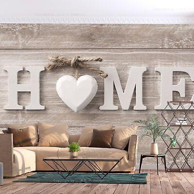 Vlies Fototapete Schlafzimmer Home Holz Optik Herz Scandi Tapete - fototapete für schlafzimmer