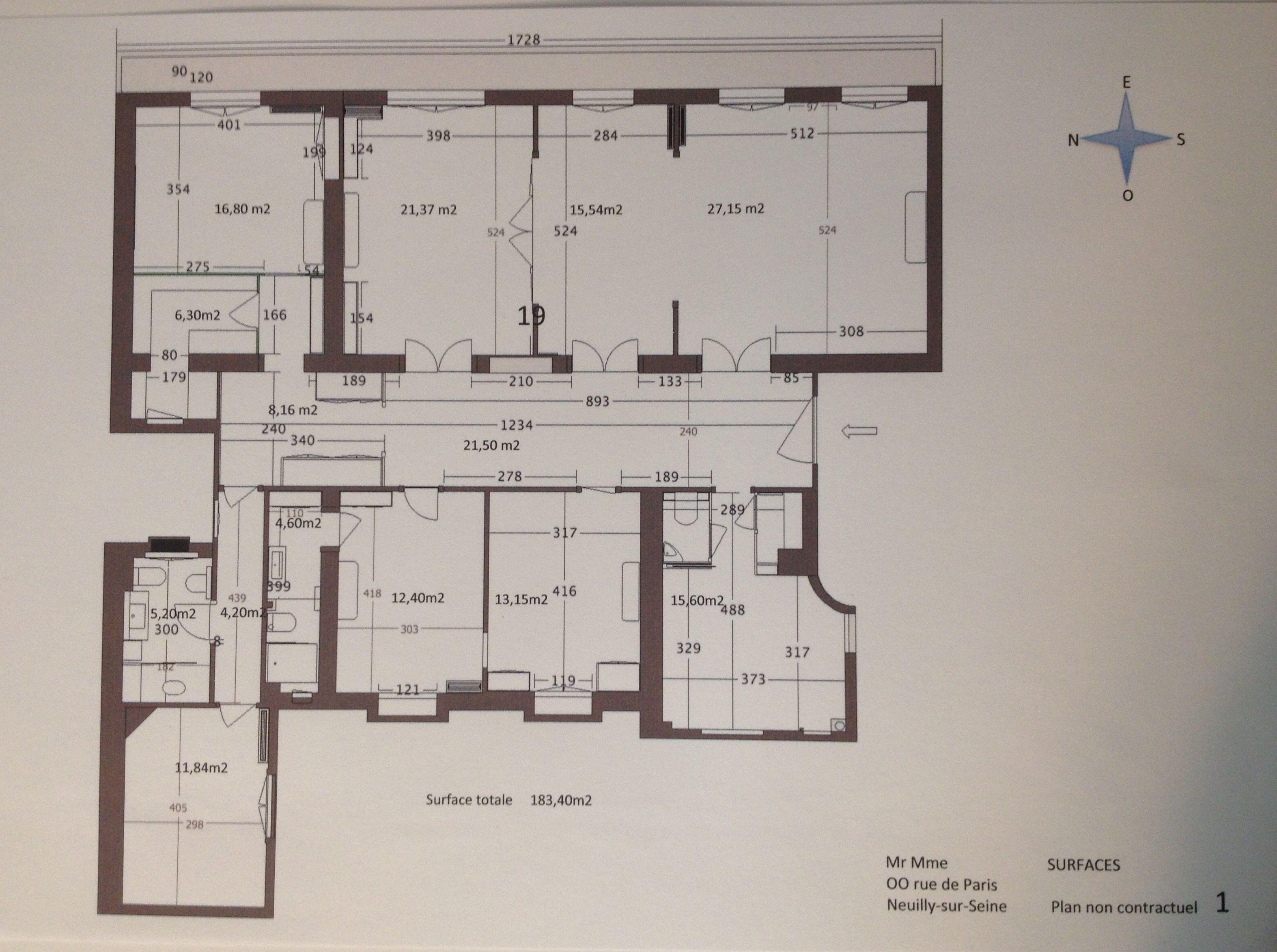 Plan d'un appartement réalisé sur SKP