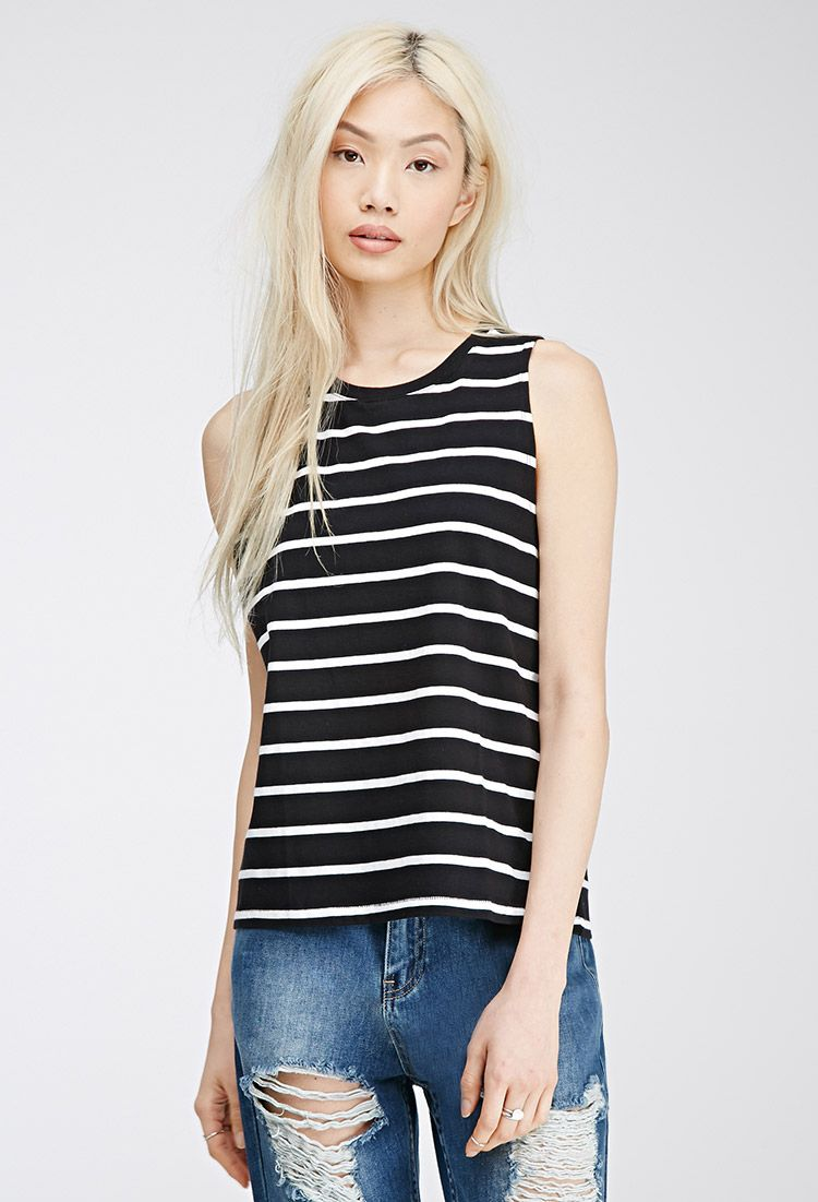 Striped Boxy Tank | Forever 21 Canada