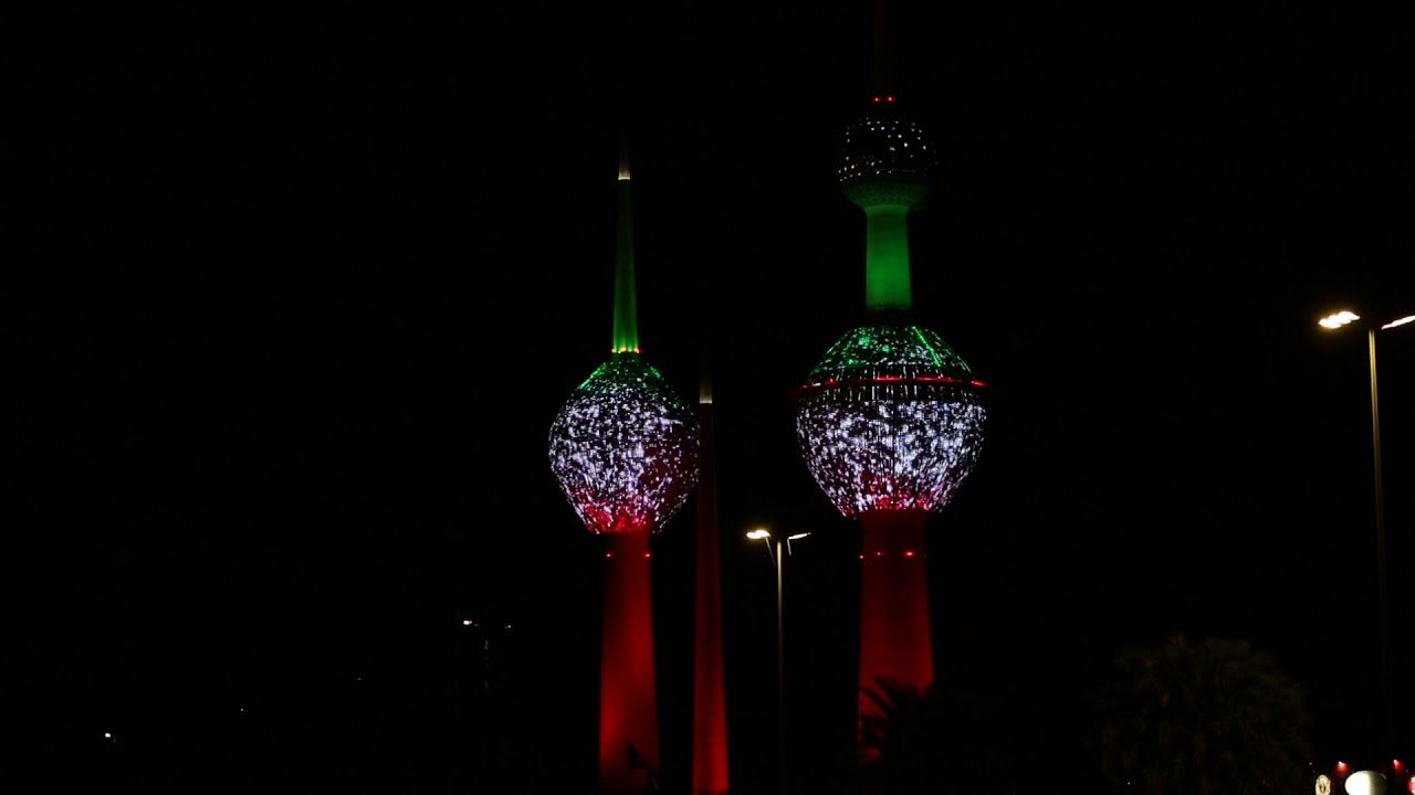 أبراج الكويت في العيد الوطني هلا فبراير Kuwait Towers In The National Day Kuwait National Day Projects To Try Projects