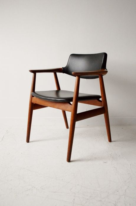 johannes andersen danish teak vintage desk chair furniture pinterest chaise mobilier and fauteuil