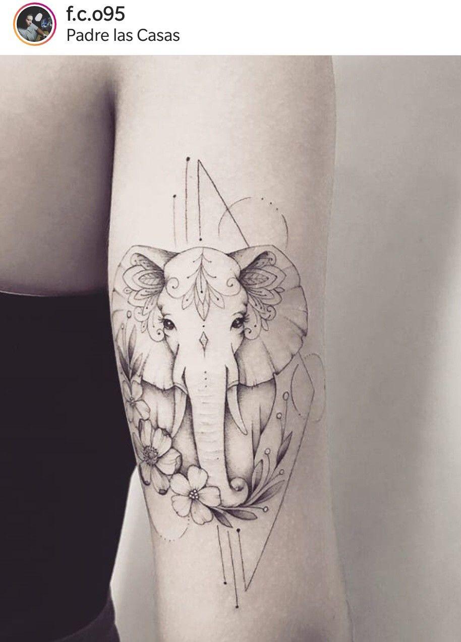 Geometric Elephant Tattoo Designs