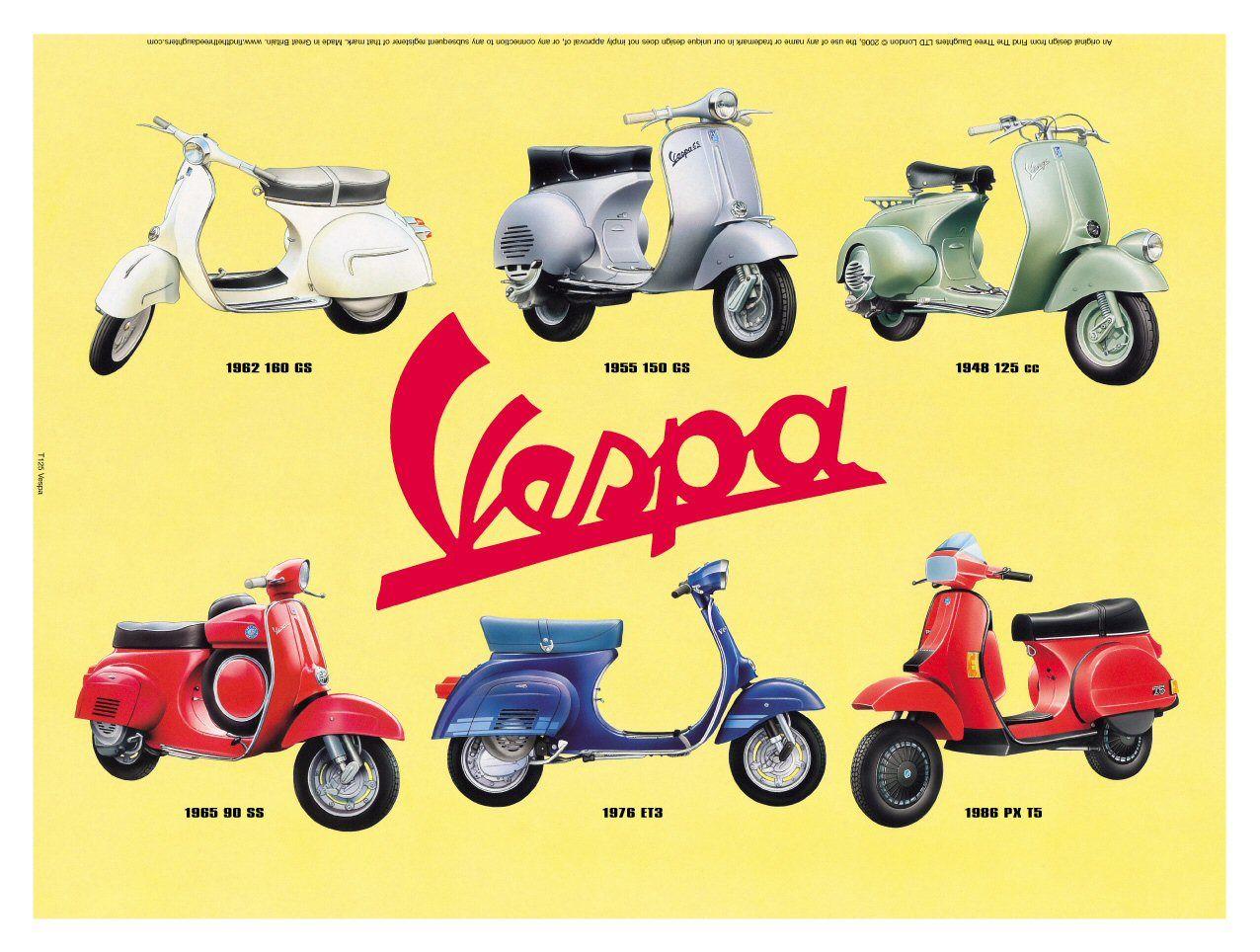 Vespa Poster Vespa Vespa Vintage Vespa Scooters