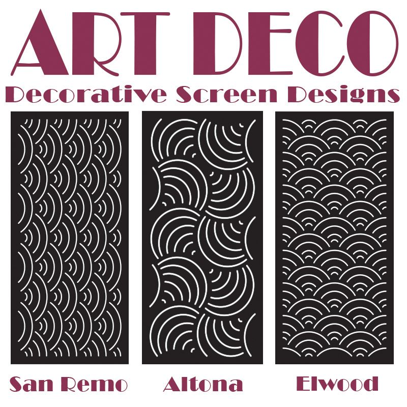 laser cut art deco styled decorative screens designed and by australian wholesale screen qaq - Decorative Screens