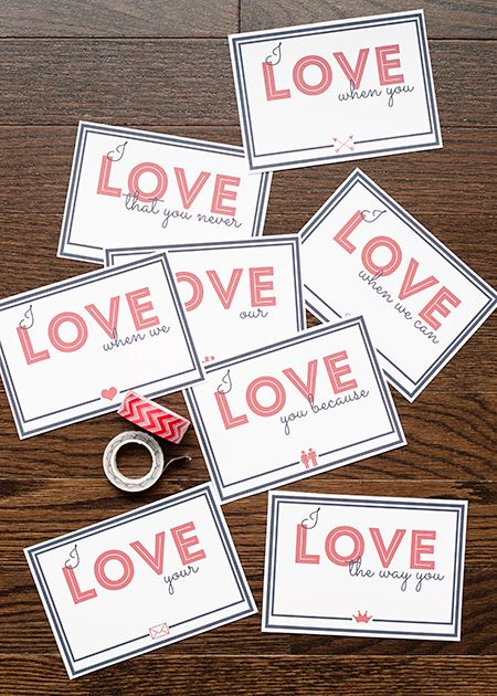Love Note Printables For National Love Note Day She Anne