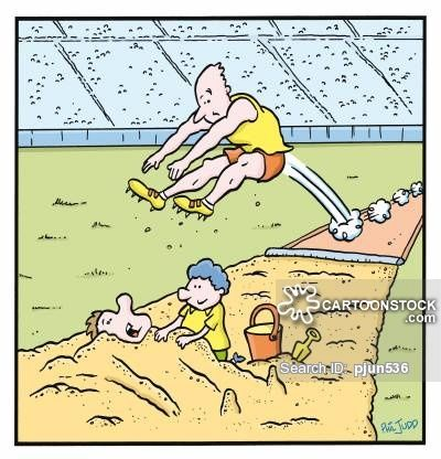 Image result for long jump cartoon funny