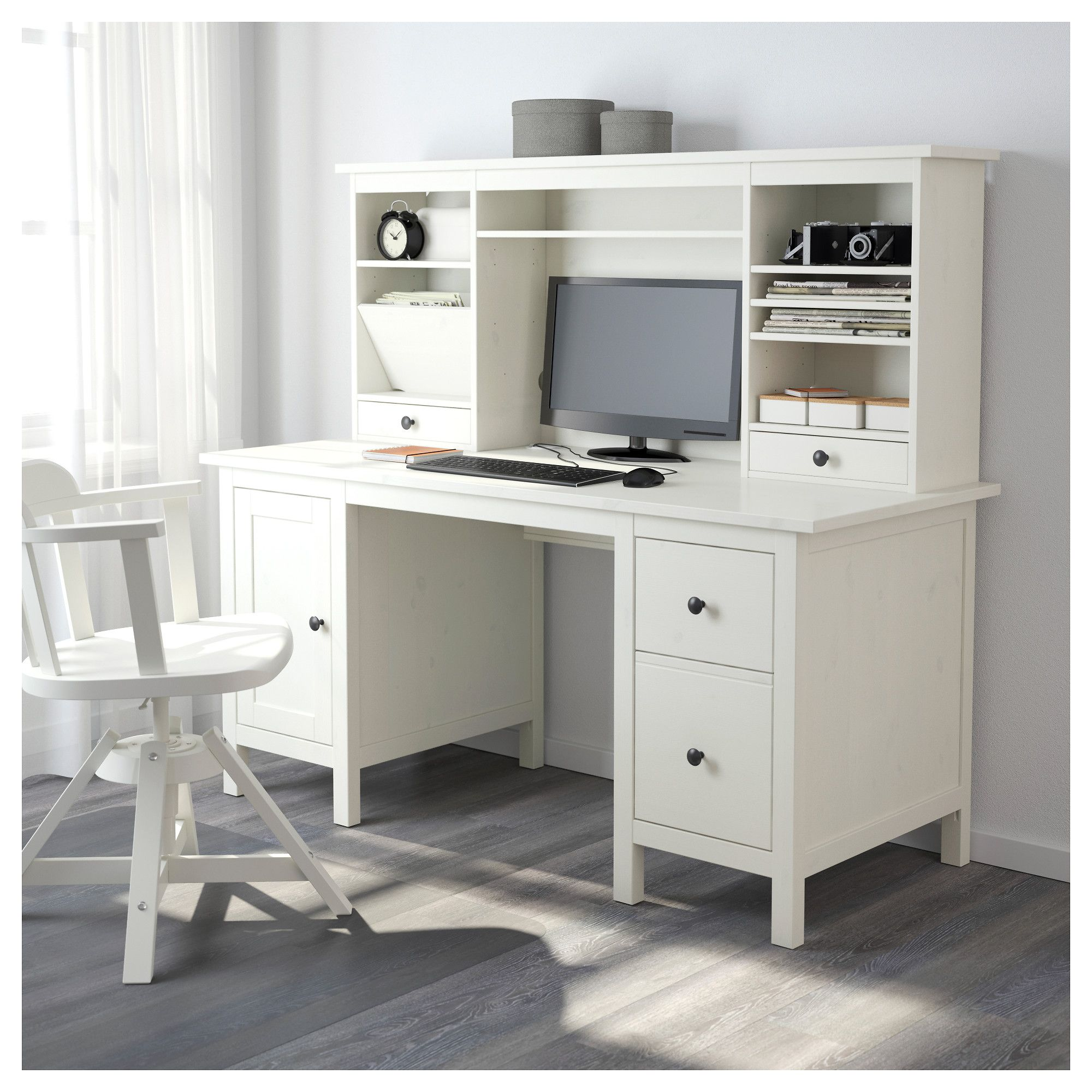 ikea dviz office desk and colour thyge resistant surface the desks melamine hutch co secretary stain durable study with silver is white
