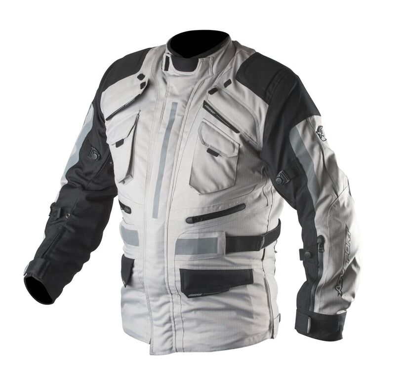 AGVSPORT Navigator Textile Jacket in gray/black.