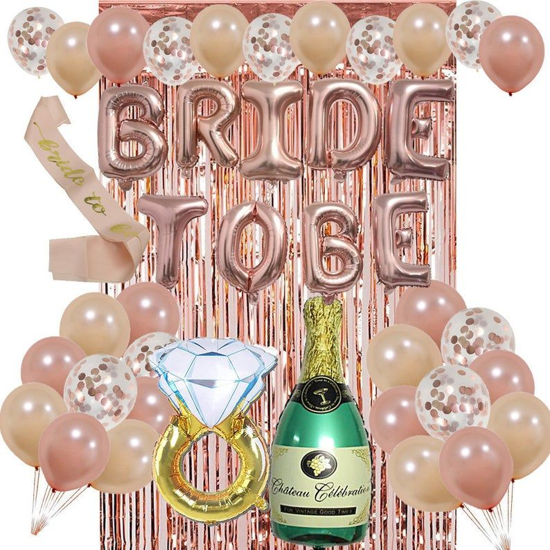 Bachelorette Party Decorations Champagne And Diamond Balloons