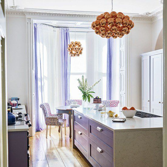 Lovely kitchen featuring our Innermost Beads Ceiling Light in copper: http://ow.ly/sBPf306KySQ  @InnermostDesign