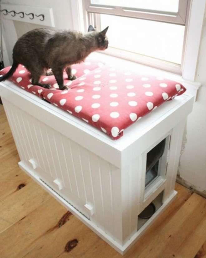 tr s bonnes id es pour cacher les liti res de nos mimis un peu d 39 ing niosit et d 39 huile de. Black Bedroom Furniture Sets. Home Design Ideas