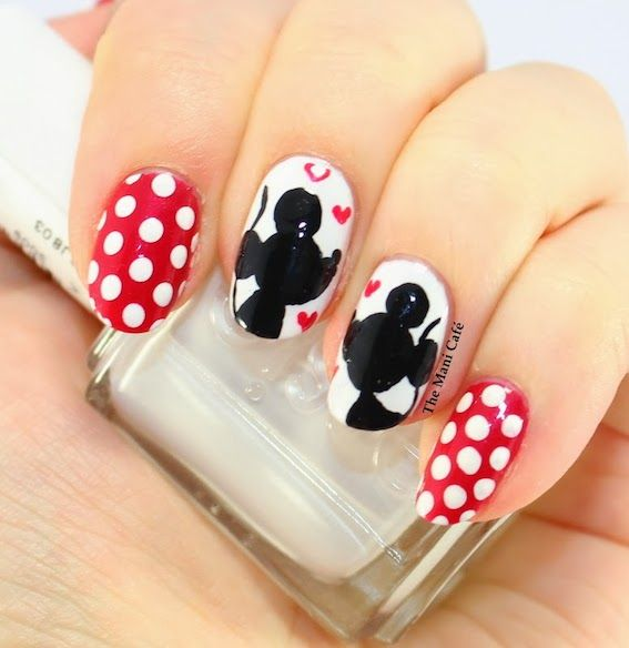 The Mani Cafe Mickey and Minnie mouse nail art design - The Mani Cafe Mickey And Minnie Mouse Nail Art Design Mickey