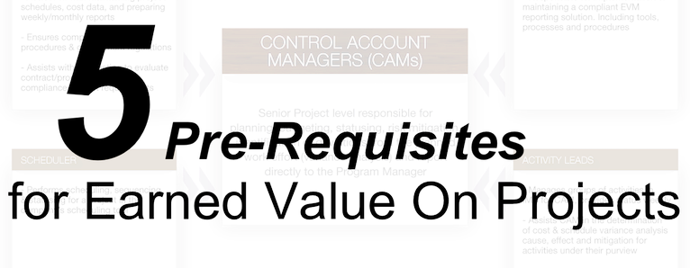 PreRequisites For Earned Value On Projects  Earned Value