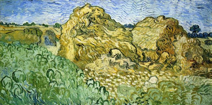 Field with Stacks of Wheat : Vincent van Gogh : Museum Art Images : Museuma