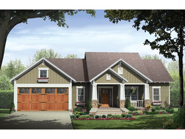 exterior look of house change color scheme ridgeforest craftsman home from houseplansandmorecom - Small Ranch Home