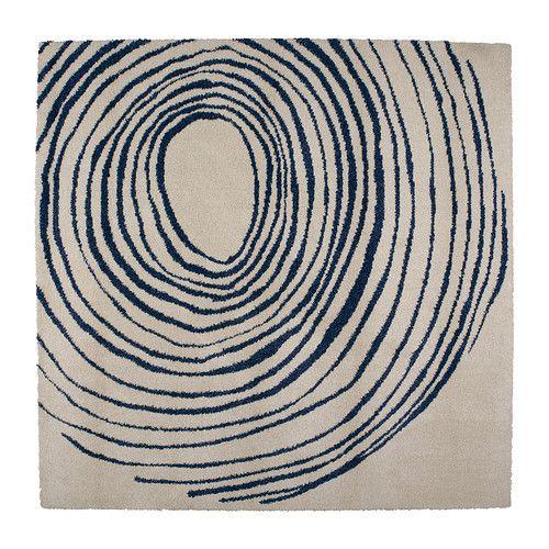 eivor cirkel tapis poils hauts blanc bleu appartement de monsieur d tapis ikea ikea et. Black Bedroom Furniture Sets. Home Design Ideas