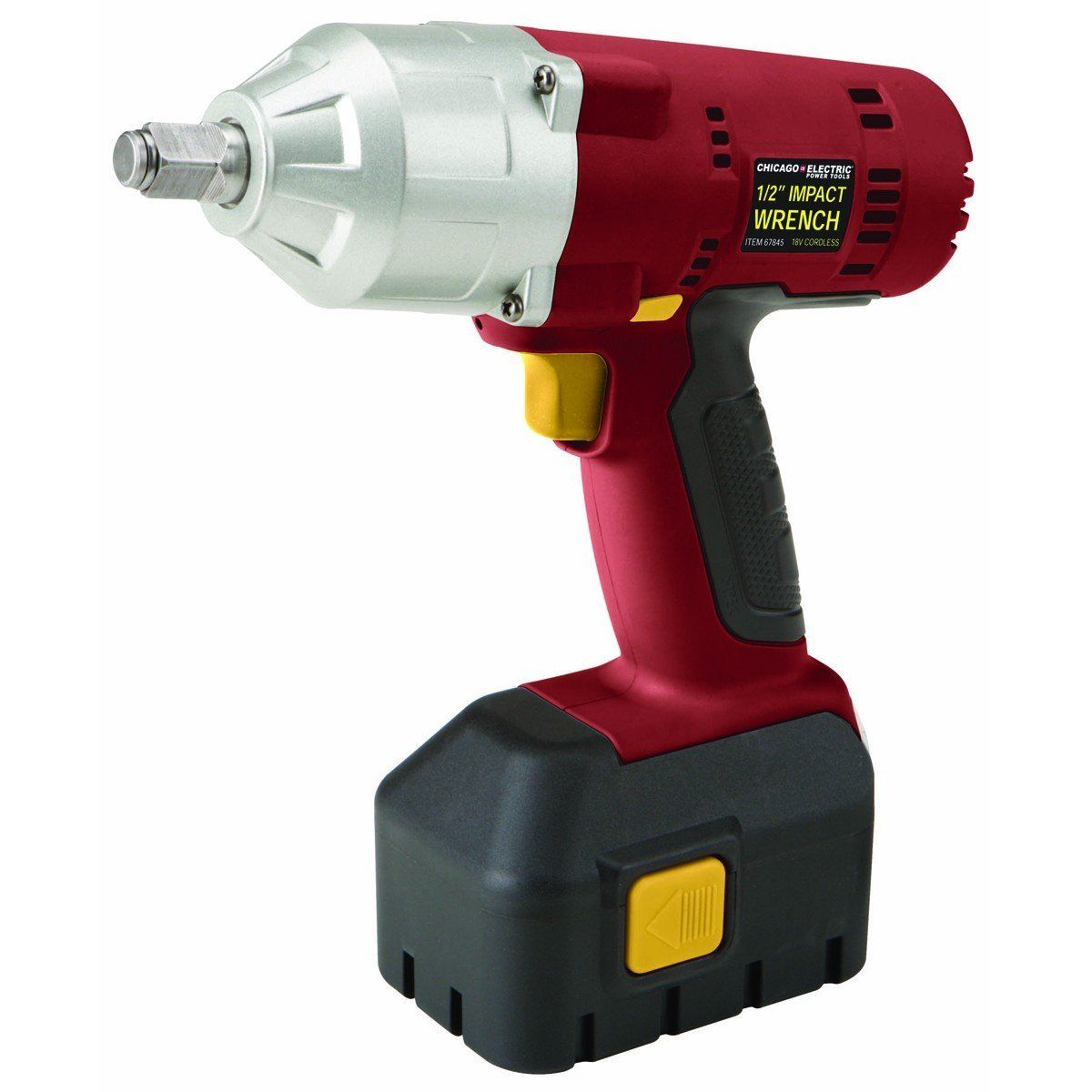 Chicago Electric 1 2 Inch 18 Volt Cordless Impact Wrench With Built In Led Light And Variable Sd