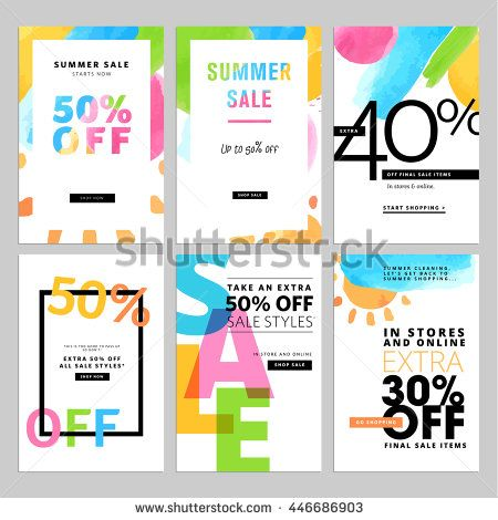 Set of social media sale banners template hand drawn vector set of social media sale banners template hand drawn vector illustrations for website and mobile maxwellsz