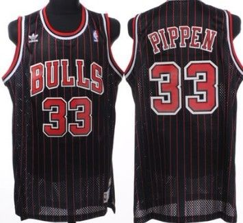Product Name   Chicago Bulls  33 Scottie Pippen Black Pinstripe Throwback  Swingman Jersey 55f4d9453