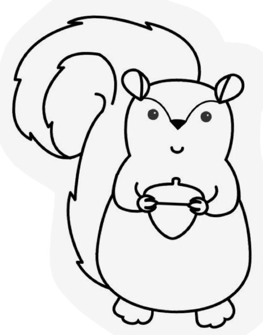 Easy Coloring Pages For Kids Easy Coloring Pages Inspirational Engaging Fall Coloring Pages C Fall Coloring Pages Squirrel Coloring Page Fruit Coloring Pages