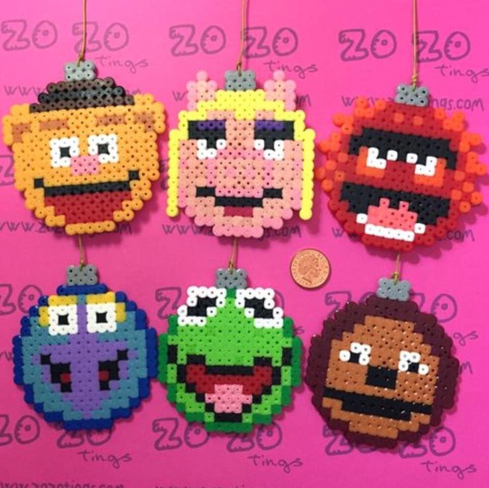 Muppets Ornaments Christmas Perler Beads Perler Crafts Perler Beads Designs