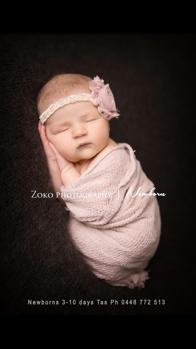 Www zokophotography com newborn photographer studio portraits baby girl