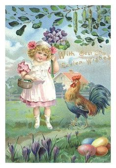 Easter Illustration. High quality vintage art reproduction by Buyenlarge. One of many rare and wonderful images brought forward in time. I hope they bring you pleasure each and every time you look at