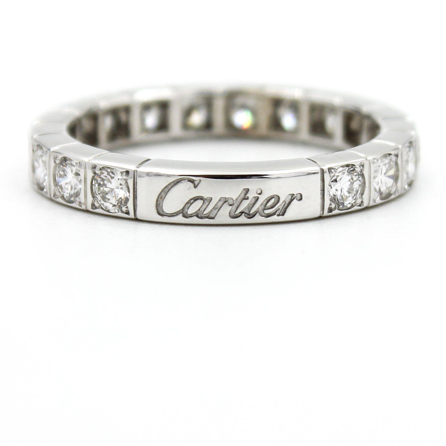 daabc1bb7fa2f CARTIER Lanieres Diamond Eternity Wedding Band in 18k White Gold ...