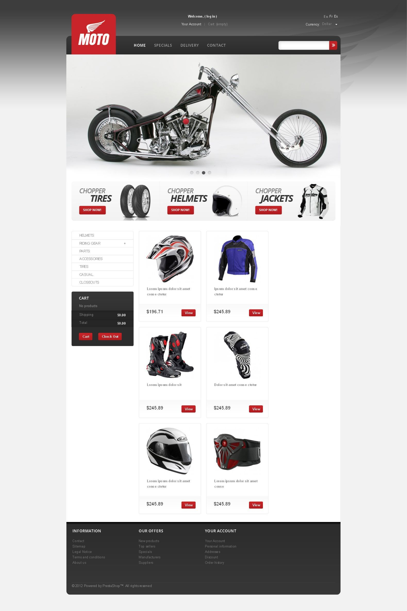 bike parts apparel prestashop theme new website templates pinterest bike shops template. Black Bedroom Furniture Sets. Home Design Ideas