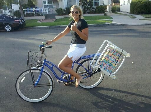 Bicycle Beach Chair Carrier Beach Bum Bike Caddy
