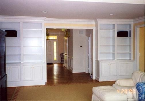this beautiful wall unit, along with many custom kitchen cabinets