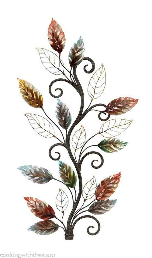 Contemporary Metal Floral Leaves Branch Wall Decor 36 X20  * New* Free shipping  sc 1 st  Pinterest & Contemporary Metal Floral Leaves Branch Wall Decor 36