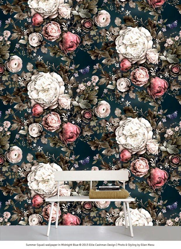 Homes & Interiors Floral Trends for Spring Blue floral