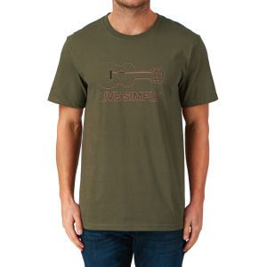 4cb8df4f397 Patagonia Clothing   Accessories - Free Delivery Options Available.  Patagonia Live Simply Guitar T-shirt - Fatigue Green