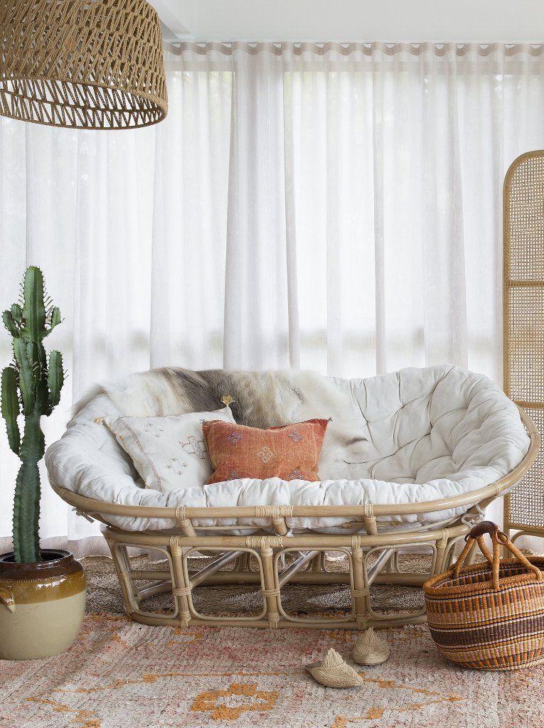 Mamasan Couch 70 S Armchair Bohemian Papasan Chair Living Room Bohemian Living Room Decor Living Room Decor