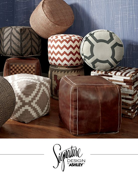 Accent Poufs Ashley Furniture For The Home Pinterest Poufs New Urban Foundry Pouf