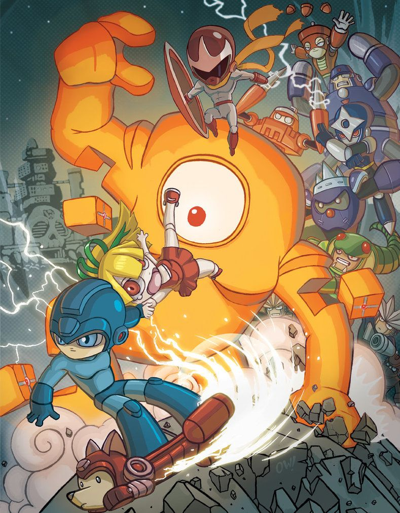 udon mega man tribute book mega man robot masters pinterest