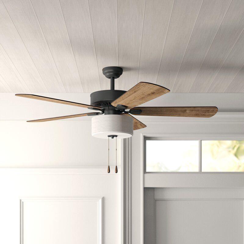 52 Sina 5 Blade Ceiling Fan Light Kit Included Reviews Joss Main Ceiling Fan With Light Modern Ceiling Fan Ceiling Fan With Remote