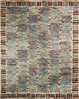 Hali Rugs Malmo Blue Handknotted From A Blend Of Nz And Aginian Wools In