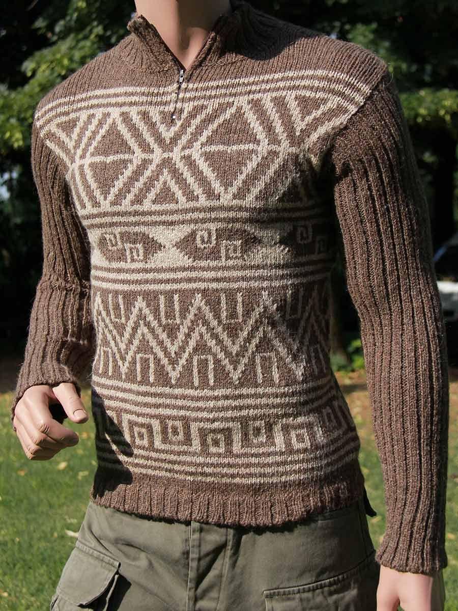 super speciali qualità stabile prezzi di sdoganamento Splendido maglione a collo alto da uomo in pura lana d'alpaca ...