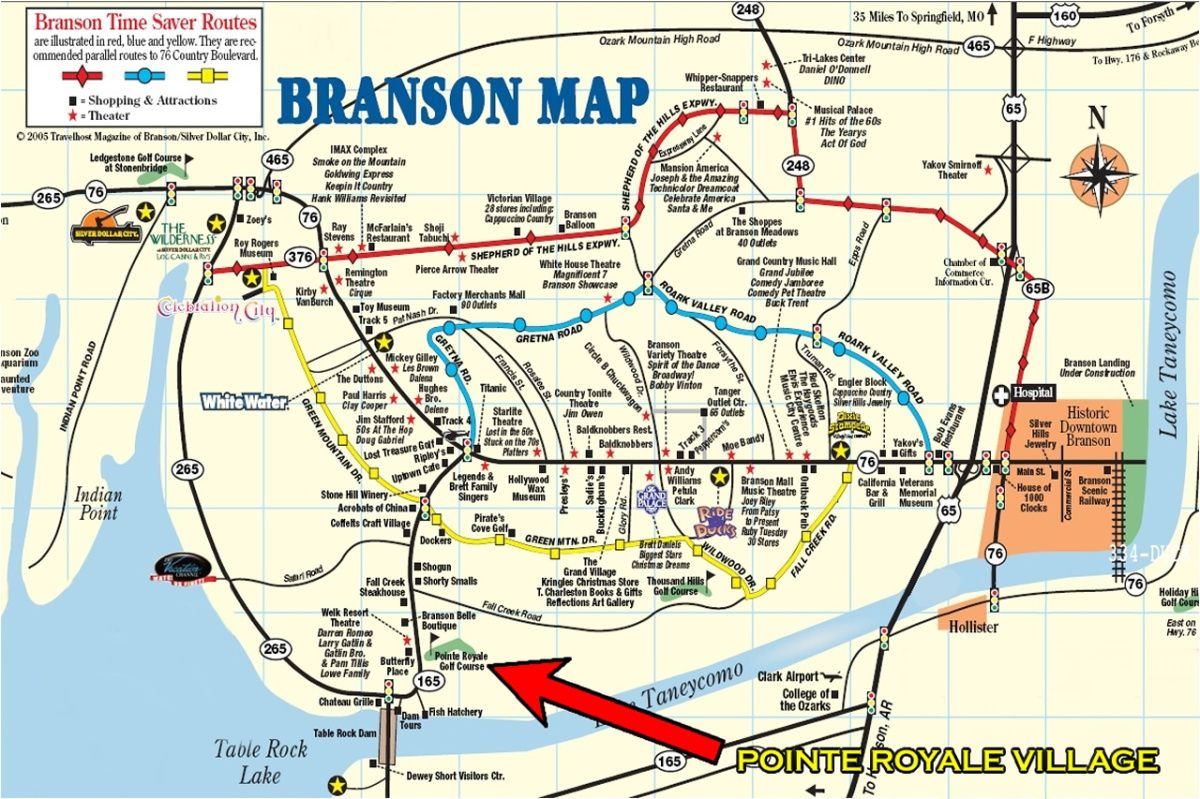 Map Of Branson Mo Most Ideal Locations In Branson Close To - Branson tourist map