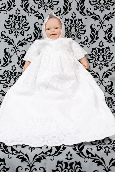 1930s table cloth and laces christening gown