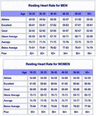 Resting Heart Rate Chart  Wellness    Heart Rate