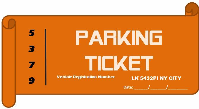 Professional Design Parking Ticket Microsoft Templates - design tickets template
